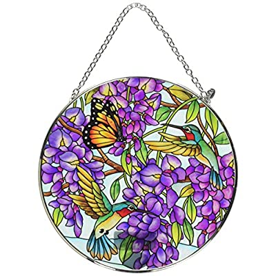Amia 42616 Wisteria Large Glass Circle Sun Catcher, Multicolor: Home & Kitchen