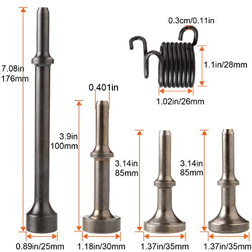 5Pcs Smoothing Pneumatic Air Hammer Pneumatic Chisel Bits Tools Kit And  Durabl