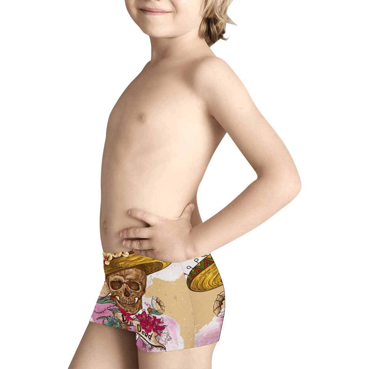 5T-2XL INTERESTPRINT Kids Comfortable Breathable Briefs