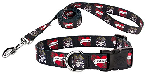 Country Brook Design | I Love Mom Deluxe Dog Collar & Leash - -