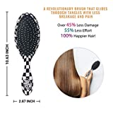 Wet Brush Hair Brush Checker Print Original
