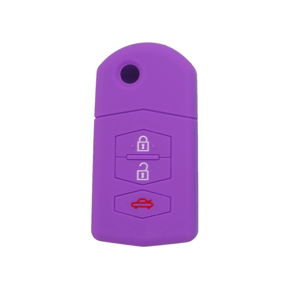 BROVACS Silicone Cover Protector Case Skin Jacket fit for MAZDA 3 Button Flip Remote Key Fob CV9530 Rose