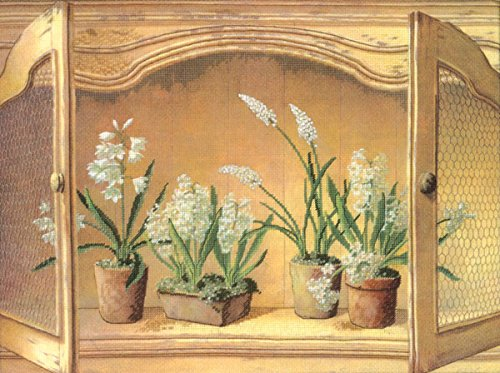 Candamar Designs 51432 French Cupboard Hyacinths Embellished Cross-Stitch Kit - Cupboard Kit