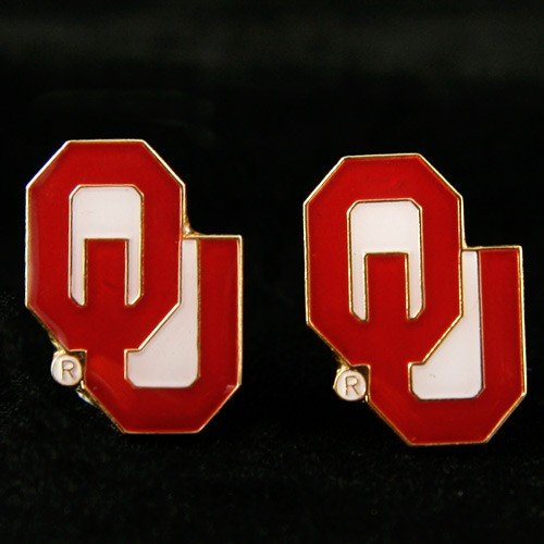 NCAA Oklahoma Sooners Team Post Earrings