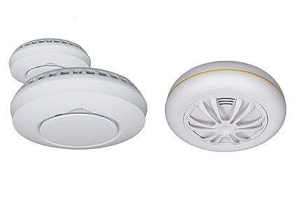 Elro – Lote de 2 detectores de Humo inalámbricos + Emulsión de Calor para Sistema Smart