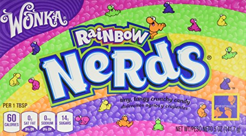 Wonka Rainbow Nerds Theatre Box 141.7g - Pack of 2