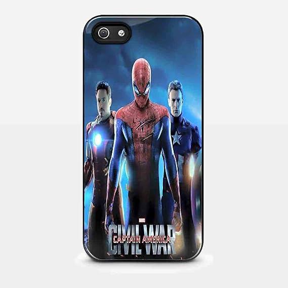 Captain America Civil War Spiderman Wallpaper For Iphone 5c Black