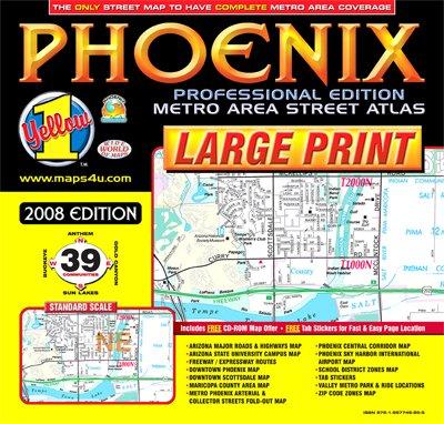 Phoenix Professsional Edition LARGE PRINT Metro Area Street Atlas