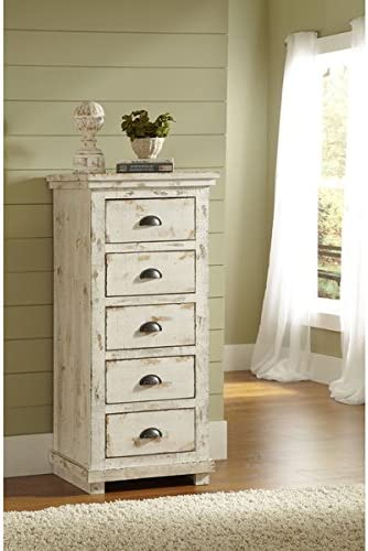 Montrose Distressed White Lingerie Chest – Fully Assembled