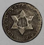 1852 Three Cent Piece 3c Fine