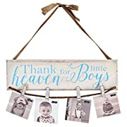 Mud Pie Thank Heaven For Little Boys CloThespin Photo Frame