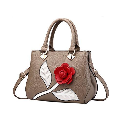 Bequemer Rose Woman Laden Handbags Shoulder Bags Pu Leather Shoulder Bags Khaki Fashion Shopper