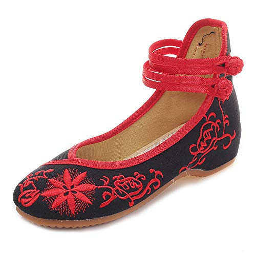 戻す断言する政府ひまわりの新しい女性の刺繍靴Espadrillesのキャンバスフラット通気性のファッションと快適なウォーキングダンスシューズ