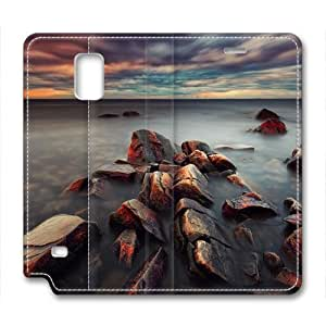 Coastline Leather Cover for Samsung Galaxy Note 4 by Cases & Mousepads
