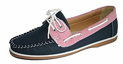 a40fbc2f494 Image Unavailable. Image not available for. Colour  Ladies Coolers Faux  Nubuck Leather Loafer Lace Up Boat Deck Shoes Sizes 4 - 8 (
