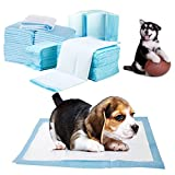 QBLEEV Disposable Dog Pad Pet Super-Absorbent Dog Training House-aids Potty Pee Pads Puppy Piddle Underpad Dry Premium Leak Proof Pee Pads Outdoor Indoor Blue (M-17.7