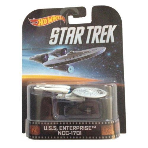 U.S.S. Enterprise NCC-1701 Star Trek Hot Wheels 1:64 Retro Entertainment Die Cast (Hot Wheels Star Trek Uss Enterprise Ncc 1701)