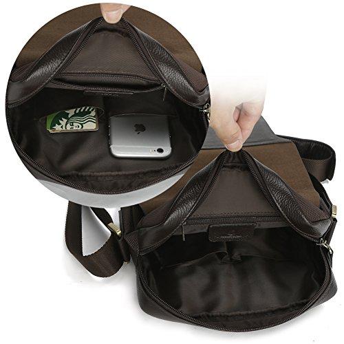 o para y piel para lona sintética suficientemente Koolertron negro iPad nbsp;de libros Bandolera grande oficina un guardar xYqwCRO1nT