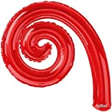 """14"""" Kurly Spiral Red Air-Fill Balloon - Pack of 5"""