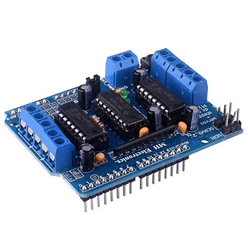 kuman L293D Motor Drive Shield Expansion Board For Arduino Duemilanove Mega UNO R3 AVR ATMEL KY58 (Best Arduino Motor Shield)