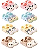 QandSweat Baby Toddler Non-skid Socks Little Girls Cute Cartoon Floor Socks 8-Pairs 8-36M