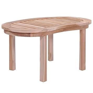 Festnight Table Basse Table d\'Extérieur Bois de Teck Massif pour ...