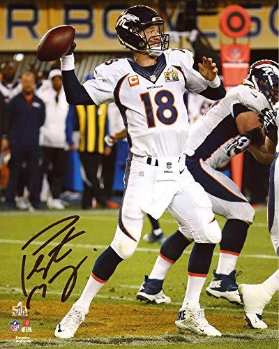 - Peyton Manning Denver Broncos Autographed 8