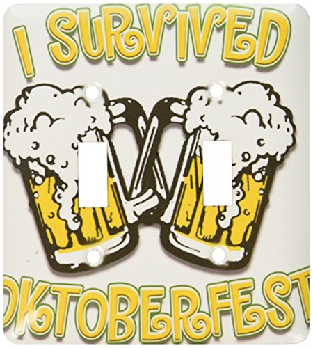 3dRose lsp_44601_2 Text With I Survived Oktoberfest Toggle