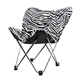 Urban Shop Faux Fur Butterfly Chair, Zebra