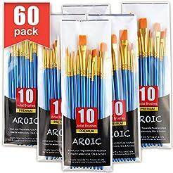 Acrylic Paint Brush Set, 6 Packs / 60 pc...