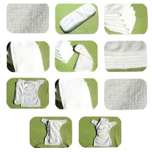7 Inserts Hemore 7X r/éutilisable Lavable b/éb/é Lavable Nappy Couche Lavable Une Taille