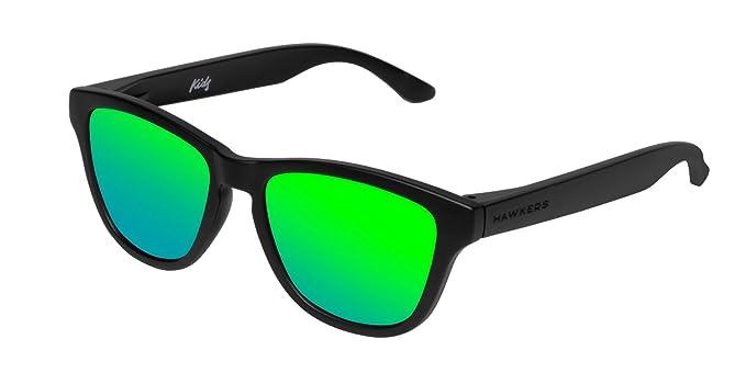 Hawkers Unisex-Erwachsene Sonnenbrille Carbono Emerald One, Schwarz (Negro/Verde), 65