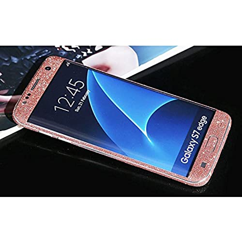 Furivy Samsung Galaxy S7 Edge Sticker Luxury Sparkly Bling Film Wrap Covered Edges Full Body Sticker Skin for Samsung S7 Edge Pink Sales
