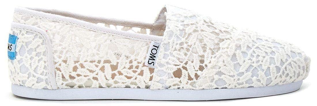 5c4ec68d2 Amazon.com   TOMS Classic White Lace Leaves Womens Espadrilles Slipons    Boots
