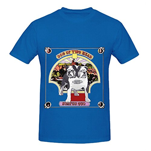 Status Quo Dog Of Two Head Funk Album Cover Mens Crew Neck Customized Shirt Blue - Tabasco Head Cover