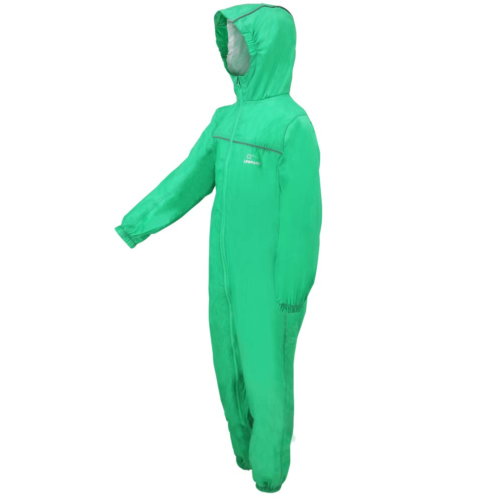 RainSuit-Pink,5-6 Years Kids Rain Snow Suit Coat for Boys Girls Lightweight Breathable Leopard Puddle Unisex Drip Drop Raincoat Waterproof Windproof 1PC