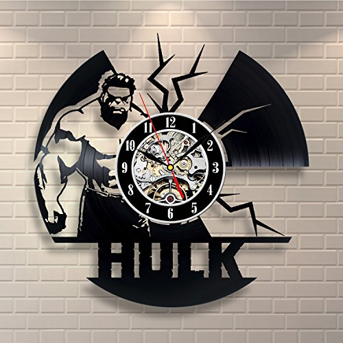 Hulk Wall Art Decor Vinyl Record Clock Home Design (Hulk Vinyl)