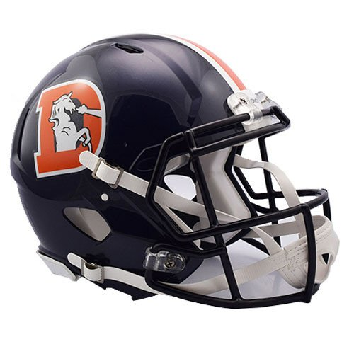 Denver Broncos Color Rush Officially Licensed Speed Full Size Replica Football Helmet by Riddell