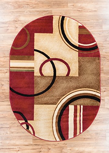 Area Rug 5x7 53 X 610 Easy To Clean Stain Fade Resistant Shed Free Abstract Contemporary Color Block Boxes Lines Soft Living Dining Room