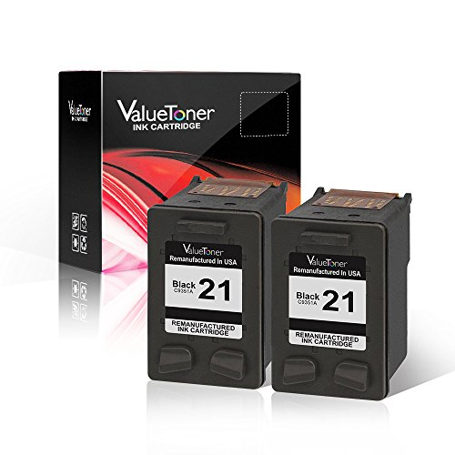 Valuetoner Remanufactured Ink Cartridge Replacement 2 Black for HP 21 C9508BN C9351AN High Yield Compatible for HP DESKJET F4180,F2210,D1560,3930,D1530,OFFICE 4315,J3640,FAX 3180,PSC 1401 (3180 Fax)