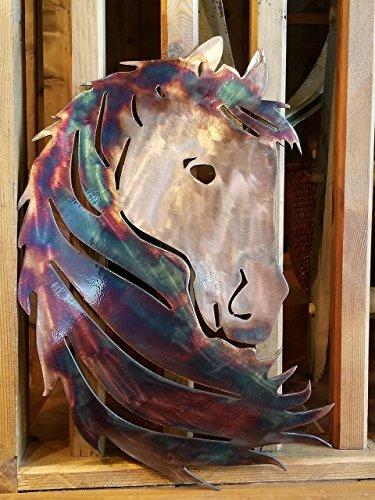 Horse Silhouette 12 w x 18 h quality metal art / 12 ga - Silhouette Horse Metal