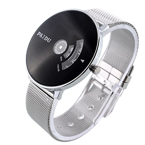 [Black Sliver Fashion Men's Women's Stainless Steel Quartz Casual Wrist Watch] (Joker Nurses Costume)