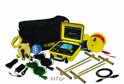 AEMC 6470-B Multi-Function Digital Ground Resistance Tester Kit, 99.99 Kilohms Resistance, 32V Voltage, 250mA Current…