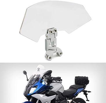 AQIMY Adjustable Windscreen Extension Wind Cold Windshield for Honda Suzuki Kawasaki Yamaha BMW Harley