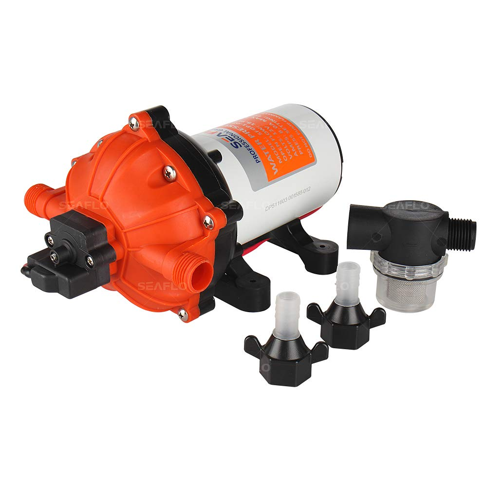 SeaFlo High Pressure Marine Water Pump 12 V DC 60 PSI 5.0 GPM on demand by Sea Fresh Marine (Image #2)