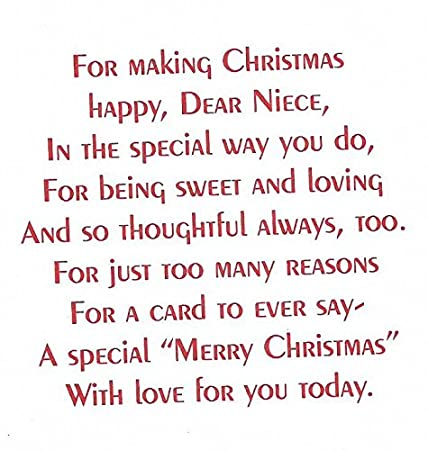 amazoncom for a very special niece merry christmas wishes n2 office products - Different Ways To Say Merry Christmas
