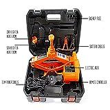 AUTOOL Electric Auto Scissor Lift Jacks 3 Ton (6600lb), DC12V All-in-One Lift Scissor Jack Auto Tire & Wheel Repair Tools