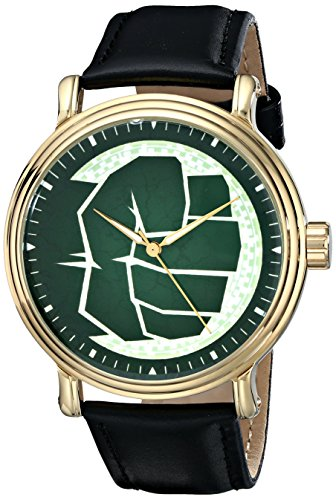 Marvel Men's W001772 The Avengers Hulk Analog-Quartz Black Watch