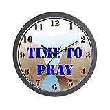CafePress – Time to Pray Clock – Unique Decorative 10″ Wall Clock Review