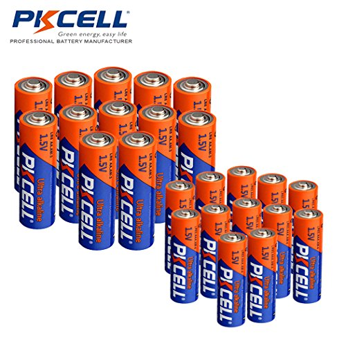 (24 Combo Pack) 12x AA LR6 +12x AAA LR03 1.5V Alkaline Batteries ()